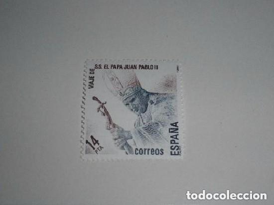 ESPAÑA- VIAJE DE SS EL PAPA JUAN PABLO II A ESPAÑA NUEVO (Sellos - España - Juan Carlos I - Desde 1.975 a 1.985 - Nuevos)