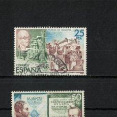 Sellos: ESPAÑA EDIFIL Nº 2583A+2583C S.H. AÑO 1980 2 SELLO. Lote 194526732