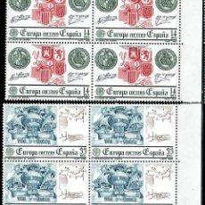 Sellos: ESPAÑA 1982 - EDIFIL 2657/2658 (**) EN BLOQUE DE 4. Lote 194564447