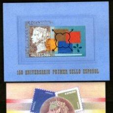 Sellos: CARPETA 150 ANIV. PRIMER SELLO ESPAÑOL. NUEVA.. Lote 194589095