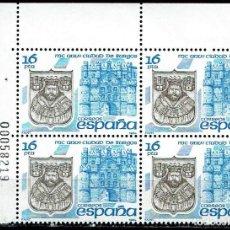 Sellos: ESPAÑA 1984 - EDIFIL 2743 (**) EN BLOQUE DE 4. Lote 194623288