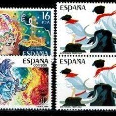 Sellos: ESPAÑA 1984 - EDIFIL 2744/2747 (**) EN PAREJAS. Lote 194623615