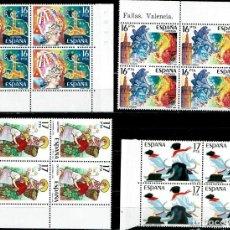 Sellos: ESPAÑA 1984 - EDIFIL 2744/2747 (**) EN BLOQUE DE 4. Lote 194624311