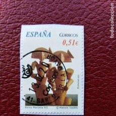 Sellos: SELLO ARTE CONTEMPORÁNEO MANOLO VALDES REINA MARIANA XII ESPAÑA . Lote 194676832
