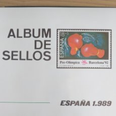 Sellos: SELLOS NUEVOS ESPAÑA AÑO 1989 COMPLETO + POSTALES + AEROGRAMAS (SIN FIJA SELLOS). Lote 194685787