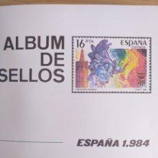 Sellos: SELLOS NUEVOS ESPAÑA AÑO 1984 COMPLETO + POSTALES + AEROGRAMAS (SIN FIJA SELLOS). Lote 194687501