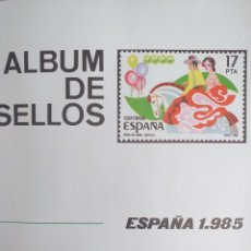 Sellos: SELLOS NUEVOS ESPAÑA AÑO 1985 COMPLETO + POSTALES + AEROGRAMAS (SIN FIJA SELLOS). Lote 194687543