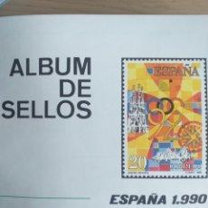 Sellos: SELLOS NUEVOS ESPAÑA AÑO 1990 COMPLETO + POSTALES + AEROGRAMAS (SIN FIJA SELLOS). Lote 194705065