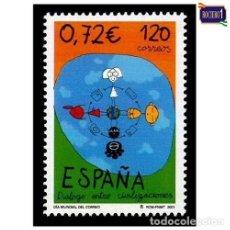 Sellos: ESPAÑA 2001. EDIFIL 3820. DÍA MUNDIAL DEL CORREO. NUEVO** MNH. Lote 194713923