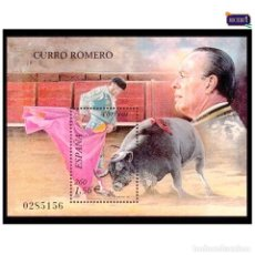 Sellos: ESPAÑA 2001. EDIFIL 3834. TOROS, CURRO ROMERO. NUEVO** MNH. Lote 194714815