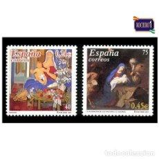 Sellos: ESPAÑA 2001. EDIFIL 3835-36 3836. NAVIDAD. NUEVO** MNH. Lote 194716033