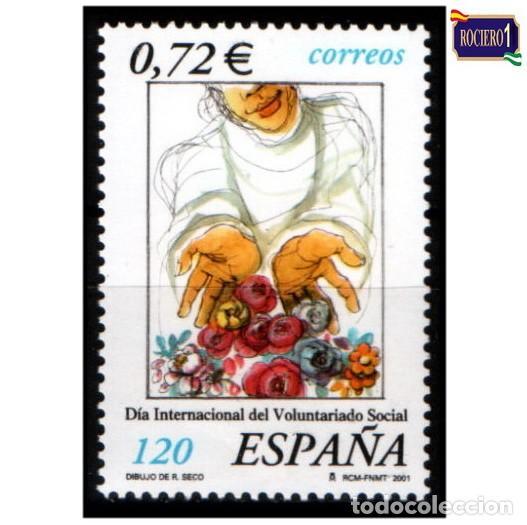 ESPAÑA 2001. EDIFIL 3842. VOLUNTARIADO SOCIAL. NUEVO** MNH (Sellos - España - Juan Carlos I - Desde 2.000 - Nuevos)