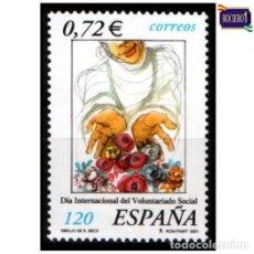 Sellos: ESPAÑA 2001. EDIFIL 3842. VOLUNTARIADO SOCIAL. NUEVO** MNH. Lote 194717032