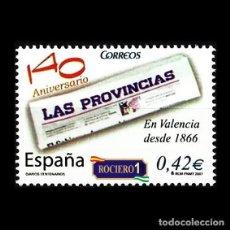 Sellos: ESPAÑA 2007. EDIFIL 4309. DIARIOS CENTENARIOS. LAS PROVINCIAS. NUEVO** MNH. Lote 194738793