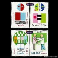 Sellos: ESPAÑA 2007. EDIFIL 4333-36 4336. VALORES CÍVICOS. NUEVO** MNH. Lote 194740285