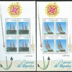 Sellos: 1997. BARCOS DE ÉPOCA. HOJITAS EDIFIL 3477/8**MNH. FRAGATA ASTURIAS Y BERGANTÍN DEL SIGLO XIX.. Lote 194767142