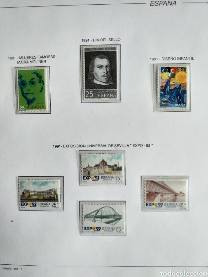 Sellos: SELLOS NUEVOS ESPAÑA AÑO 1991 COMPLETO + POSTALES + AEROGRAMAS (SIN FIJA SELLOS) - Foto 2 - 194768047