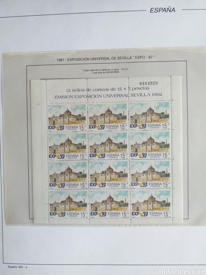 Sellos: SELLOS NUEVOS ESPAÑA AÑO 1991 COMPLETO + POSTALES + AEROGRAMAS (SIN FIJA SELLOS) - Foto 3 - 194768047