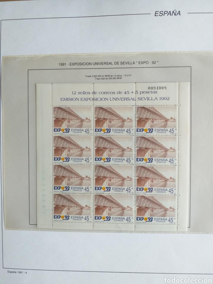 Sellos: SELLOS NUEVOS ESPAÑA AÑO 1991 COMPLETO + POSTALES + AEROGRAMAS (SIN FIJA SELLOS) - Foto 5 - 194768047