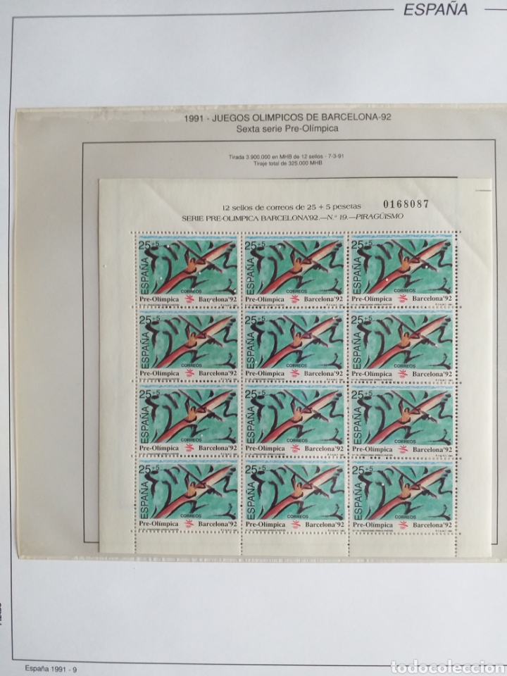 Sellos: SELLOS NUEVOS ESPAÑA AÑO 1991 COMPLETO + POSTALES + AEROGRAMAS (SIN FIJA SELLOS) - Foto 10 - 194768047