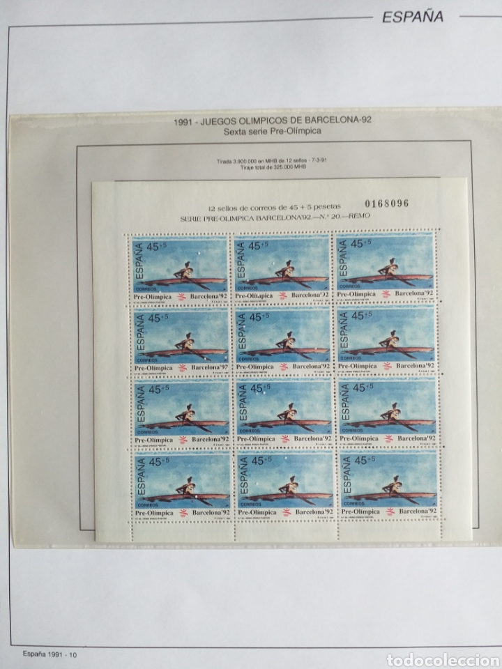 Sellos: SELLOS NUEVOS ESPAÑA AÑO 1991 COMPLETO + POSTALES + AEROGRAMAS (SIN FIJA SELLOS) - Foto 11 - 194768047