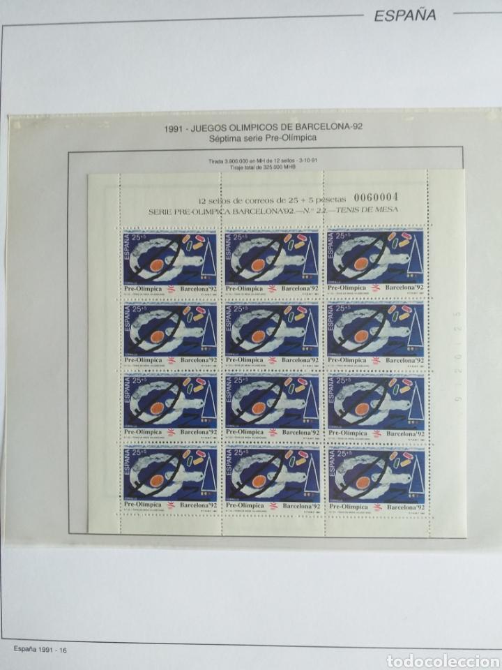 Sellos: SELLOS NUEVOS ESPAÑA AÑO 1991 COMPLETO + POSTALES + AEROGRAMAS (SIN FIJA SELLOS) - Foto 17 - 194768047