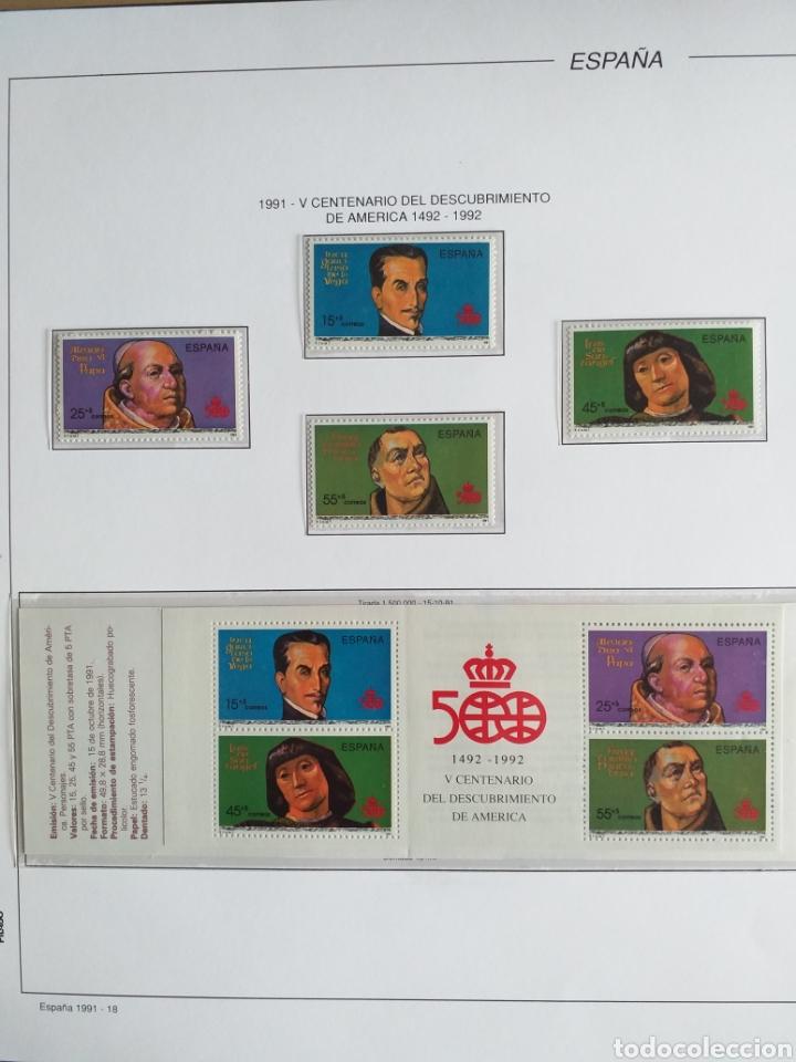 Sellos: SELLOS NUEVOS ESPAÑA AÑO 1991 COMPLETO + POSTALES + AEROGRAMAS (SIN FIJA SELLOS) - Foto 19 - 194768047