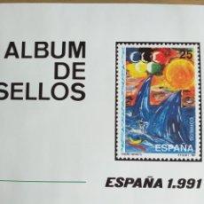 Sellos: SELLOS NUEVOS ESPAÑA AÑO 1991 COMPLETO + POSTALES + AEROGRAMAS (SIN FIJA SELLOS). Lote 194768047