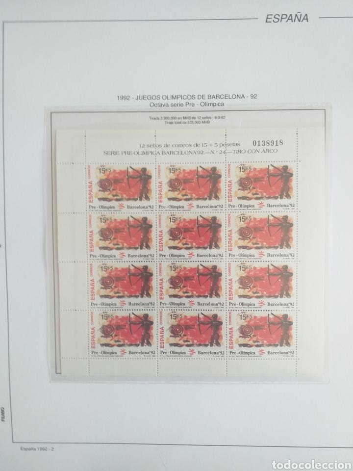 Sellos: SELLOS NUEVOS ESPAÑA AÑO 1992 COMPLETO + POSTALES + AEROGRAMAS (SIN FIJA SELLOS) - Foto 3 - 194859620