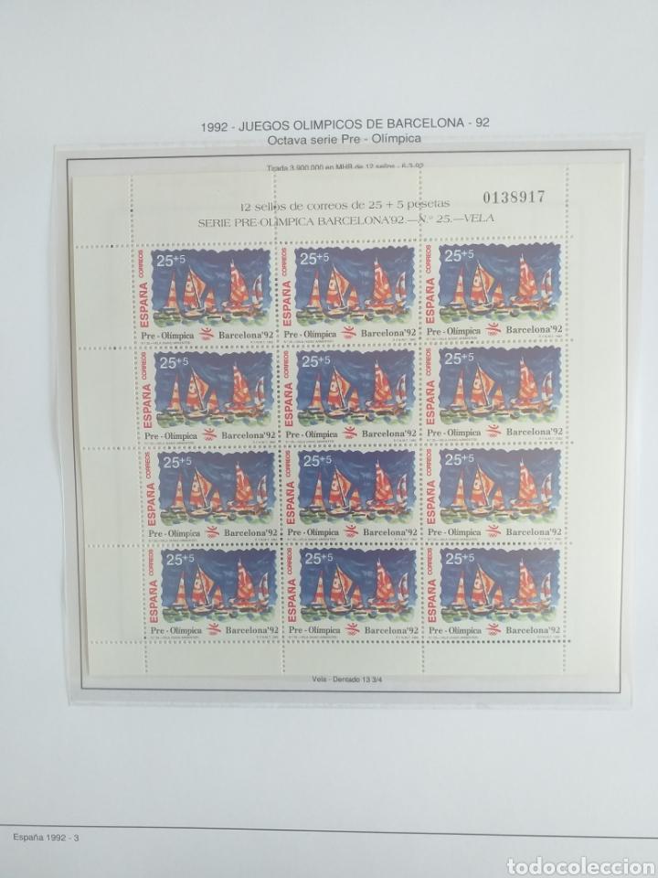 Sellos: SELLOS NUEVOS ESPAÑA AÑO 1992 COMPLETO + POSTALES + AEROGRAMAS (SIN FIJA SELLOS) - Foto 4 - 194859620
