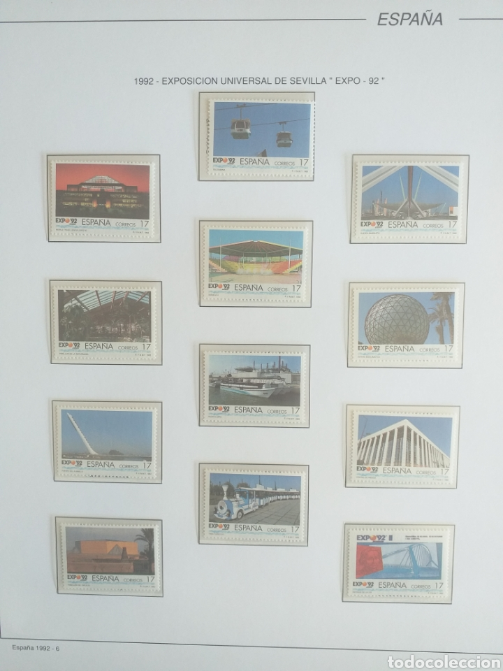 Sellos: SELLOS NUEVOS ESPAÑA AÑO 1992 COMPLETO + POSTALES + AEROGRAMAS (SIN FIJA SELLOS) - Foto 7 - 194859620