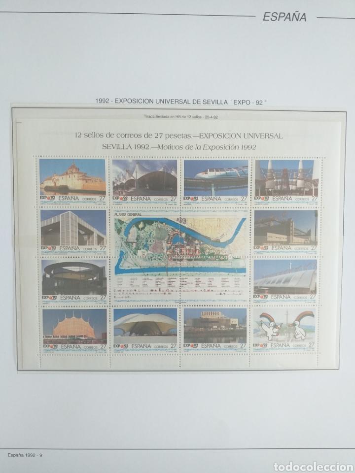 Sellos: SELLOS NUEVOS ESPAÑA AÑO 1992 COMPLETO + POSTALES + AEROGRAMAS (SIN FIJA SELLOS) - Foto 10 - 194859620
