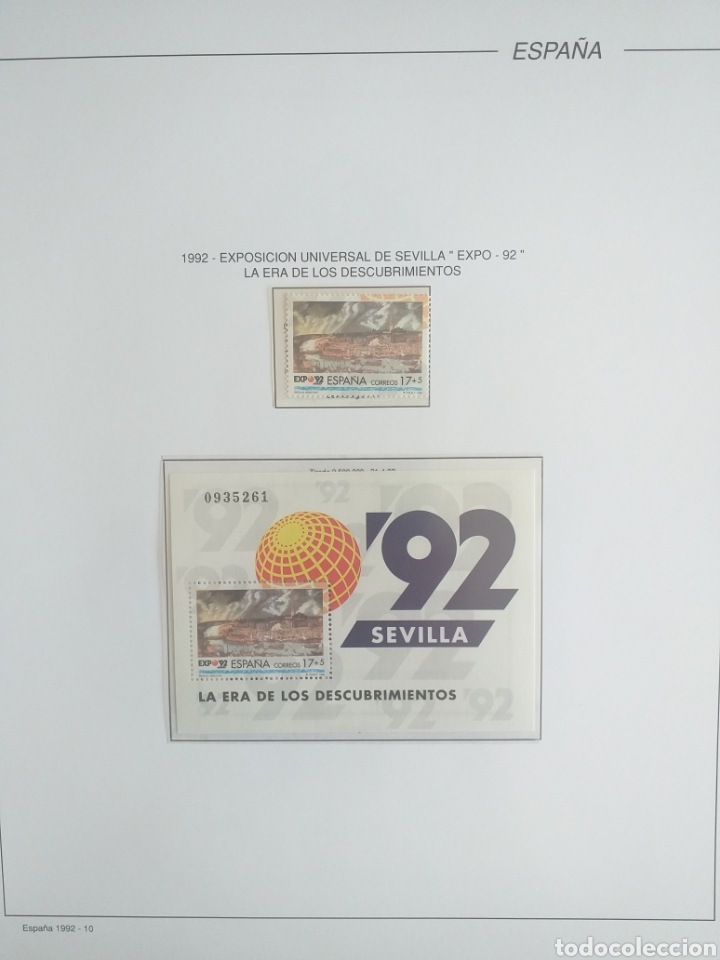 Sellos: SELLOS NUEVOS ESPAÑA AÑO 1992 COMPLETO + POSTALES + AEROGRAMAS (SIN FIJA SELLOS) - Foto 11 - 194859620