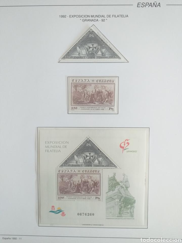 Sellos: SELLOS NUEVOS ESPAÑA AÑO 1992 COMPLETO + POSTALES + AEROGRAMAS (SIN FIJA SELLOS) - Foto 12 - 194859620