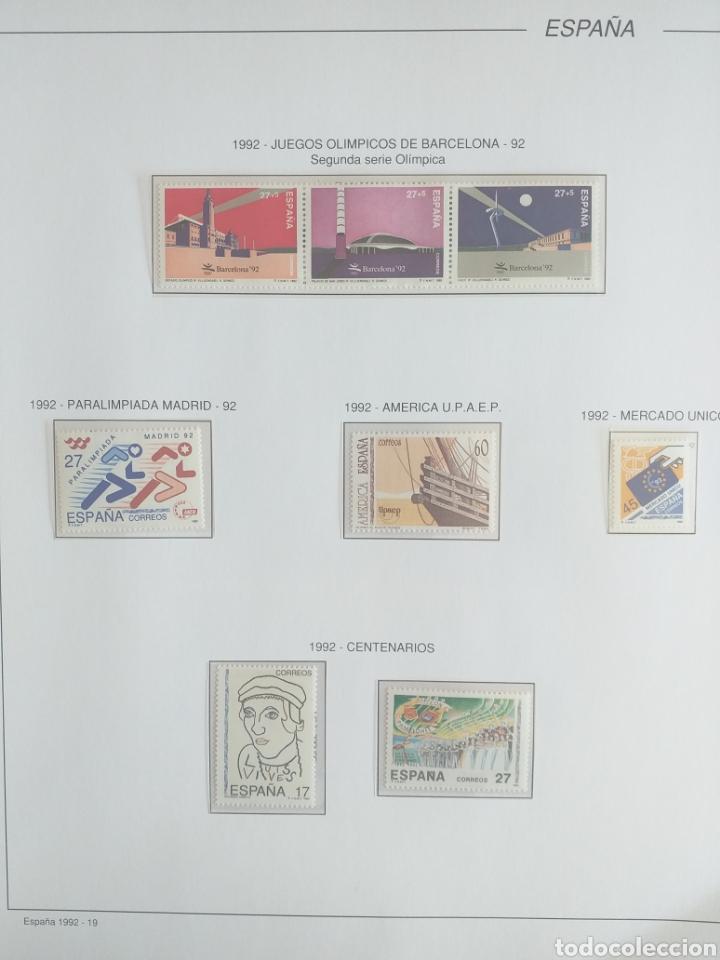 Sellos: SELLOS NUEVOS ESPAÑA AÑO 1992 COMPLETO + POSTALES + AEROGRAMAS (SIN FIJA SELLOS) - Foto 19 - 194859620