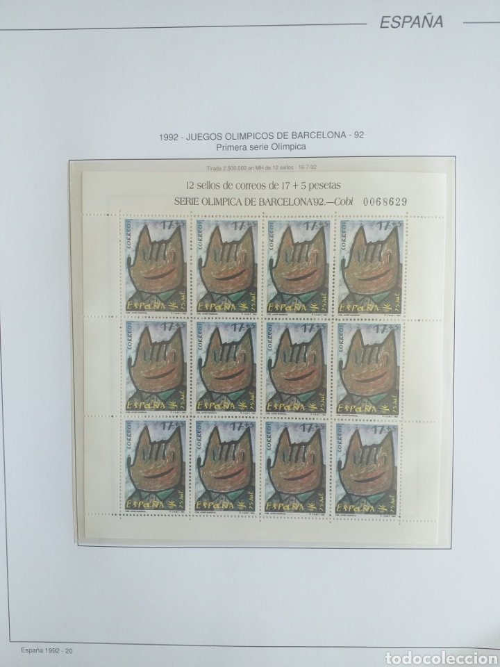 Sellos: SELLOS NUEVOS ESPAÑA AÑO 1992 COMPLETO + POSTALES + AEROGRAMAS (SIN FIJA SELLOS) - Foto 20 - 194859620