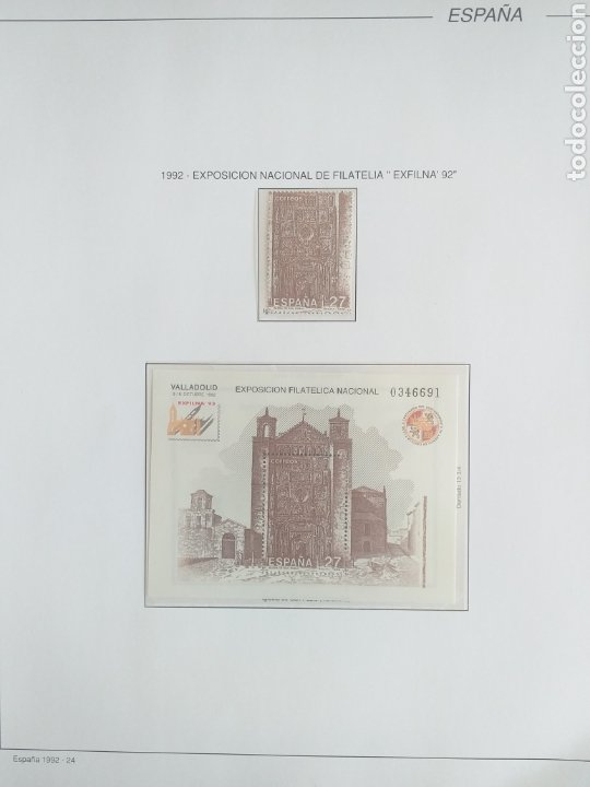 Sellos: SELLOS NUEVOS ESPAÑA AÑO 1992 COMPLETO + POSTALES + AEROGRAMAS (SIN FIJA SELLOS) - Foto 23 - 194859620