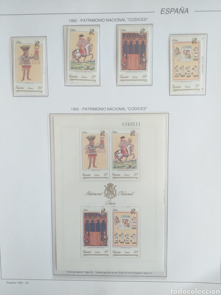 Sellos: SELLOS NUEVOS ESPAÑA AÑO 1992 COMPLETO + POSTALES + AEROGRAMAS (SIN FIJA SELLOS) - Foto 24 - 194859620