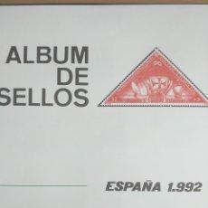 Sellos: SELLOS NUEVOS ESPAÑA AÑO 1992 COMPLETO + POSTALES + AEROGRAMAS (SIN FIJA SELLOS). Lote 194859620
