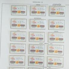 Sellos: SELLOS ESPAÑA AÑO 1992 BARCELONA 92 ATMS AUTOMÁTICOS 19 VALORES NUEVOS. Lote 194861255
