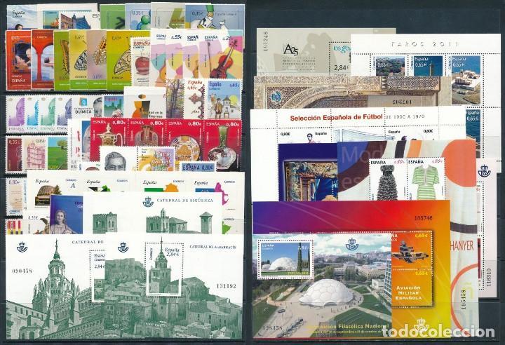 ESPAÑA AÑO 2011 COMPLETO NUEVO CON CARNET Y HB (Sellos - España - Juan Carlos I - Desde 2.000 - Nuevos)