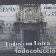 Sellos: ESPAÑA - AÑO 2012 - EDIFIL 4694 - TODOS CON LORCA - USADO. Lote 194886515
