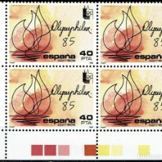 Sellos: ESPAÑA 1985 - EDIFIL 2781 (**) EN BLOQUE DE 4. Lote 194890180