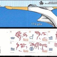 Sellos: ESPAÑA DESCUBRIMIENTO DE AMERICA CARNET EDIFIL NUM. 2969C ** NUEVO 2969/2974. Lote 194896032