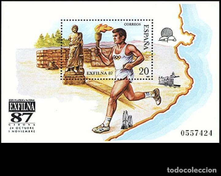 ESPAÑA EXFILNA´87 HOJA BLOQUE EDIFIL NUM. 2918 ** NUEVA SIN FIJASELLOS (Sellos - España - Juan Carlos I - Desde 1.986 a 1.999 - Nuevos)