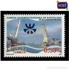 Sellos: ESPAÑA 2005. EDIFIL 4197. CUMBRE EUROMEDITERRÁNEA. NUEVO** MNH. Lote 194905427