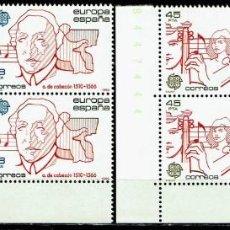 Sellos: ESPAÑA 1985 - EDIFIL 2788/2789 (**) EN BLOQUE DE 4. Lote 194917268