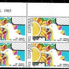 Sellos: ESPAÑA 1985 - EDIFIL 2793 (**) EN BLOQUE DE 4. Lote 194922041