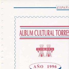 Sellos: ESPAÑA 1996. AÑO COMPLETO. MNH - MONTADO EN HOJAS TORRES. Lote 194923892