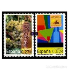 Sellos: ESPAÑA 2004. EDIFIL 4112-13 4113. VINOS CON DENOMINACIÓN DE ORIGEN, . NUEVO** MNH. Lote 194925850